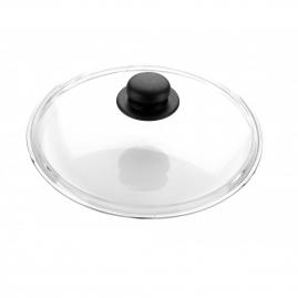 Крышка стеклянная с металлическим ободком 22см