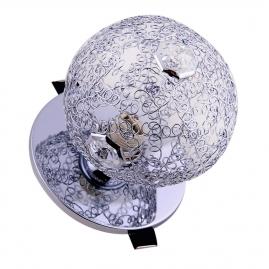"""Светильник Эра DK60 SL/WH декор """"проволока+кристалл"""" G9, 220V, 40W, серебро/прозрачный"""