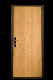 Дверь металлическая М210 миланский орех, правая