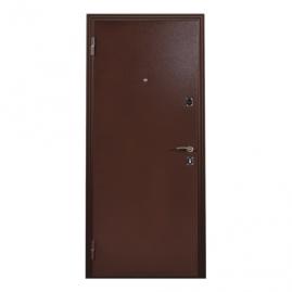 Дверь металлическая Меги 131-0584 беленый дуб 2050x870мм левая