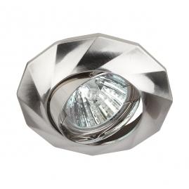 Точечный светильник Эра KL65А SN литой поворотный MR16 12В 220В 50Вт  сатин никель