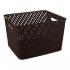 Корзина для хранения Альтернатива Плетенка темно-коричневая 35x29x22,5см М3490