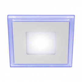 Светильник светодиодный встраиваемый квадрат Эра LED 6Вт 4000К 105x105мм с подсветкой 4-6 BL