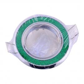 """Точечный светильник Эра Fashion DK18 """"круг со стеклянной крошкой"""" MR16, 12V, 50W, хром/зеленый блеск"""