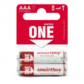 Батарейка Smartbuy ONE LR03-2SB ААА алкалиновая 60-600 SOBA-3A02SB-Eco