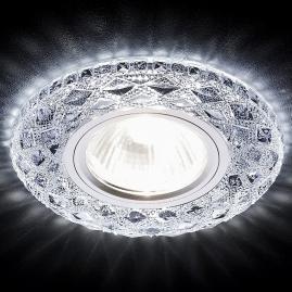 Светильник точечный Ambrella light S288 CH хром прозр хрусталь MR16+3W LED WHITE