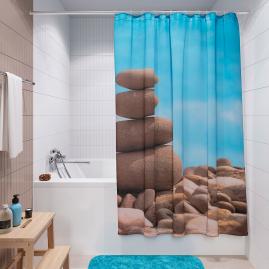 Штора для ванной комнаты Fora Равновесие PH08