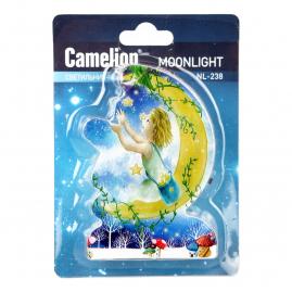 Ночник Camelion NL-238 светодиодный с выключателем месяц 220В 13813