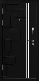Дверь металлическая VALBERG С4 КАМЕЛОТ черный муар/орех темный 2066x880мм правая