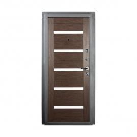 Дверь металлическая Valberg Стайл черный муар/венге 2066x980мм правая