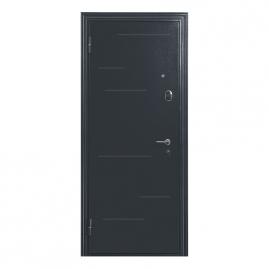 Дверь металлическая Меги 5736 Т1 зеркало ясень серый 2050x970мм левая
