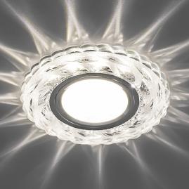 Светильник точечный Feron 15LED 2835 SMD 4000K MR16 G5.3 прозрачный хром CD936 29469