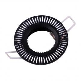Точечный светильник Эра KL32 AL/BK алюминиевый MR16, 12V, 50W черный/серебро