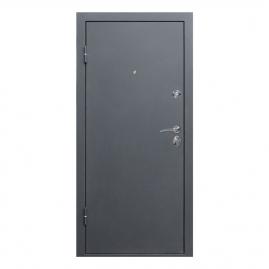 Дверь металлическая Троя серебро пепельный дуб 2050x960мм левая