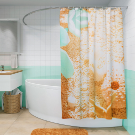 Штора для ванной комнаты Fora Пляж PH17