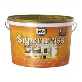 Краска для внутренних работ JOBI Superweiss L3 влагостойкая 10л/12л