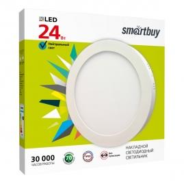 Светильник светодиодный Smartbuy Round накладной круг 24Вт 5000K IP20 296х40 бел SBL-RSDL-24-5K