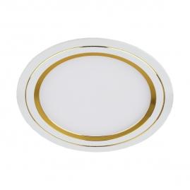 Светильник светодиодный встраиваемый круглый Эра KL LED 7Вт 220В 148мм белый-золото 11-7 GD