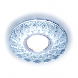 Светильник точечный Ambrella light LED S375 CL-FR прозрачный-матовый GU5.3+3ВтLED ВтHITE D120х25