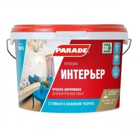 Краска акриловая интерьерная Parade W3, белая матовая 2,5л