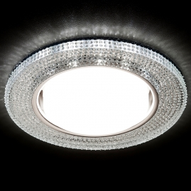 Светильник точечный Ambrella light G290 CH хром прозрачный GX53+3W LED WHITE