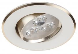 Светильник светодиодный Эра KL LED2AGD/WH LED 3x1W 210LM 220V 4000K