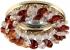 Точечный светильник Эра DK16 круглый с мелкими хрусталиками MR16,12В-220В, 50Вт золото, прозрачный