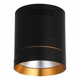 Светильник светодиодный Feron накладной AL521 10Вт 900Lm, 4000K, 35 градусов, черный 32465
