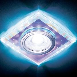 Светильник точечный Ambrella light S215 PR хром перамутровый MR16+3W LED COLD