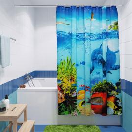 Штора для ванной комнаты Fora Кораллы PH14