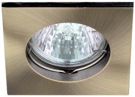 Точечный светильник Эра KL2 литой квадрат MR16, 12В-220В, 50Вт бронза