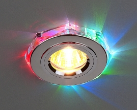 Точечный светильник 2020/2 хром/мультиподсветка (SL/7-LED) SC
