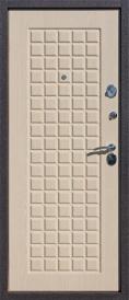 Дверь металлическая Троя шелк бордо беленый дуб, правая 960мм