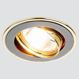 Светильник точечный Ambrella light 104A GU-G литой поворотный черный золото MR16