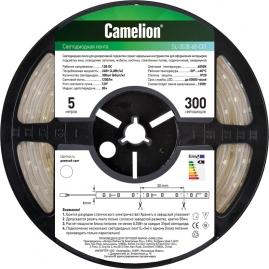 Лента светодиодная LED 3528 Camelion SLW-3528-60-C01W 5 метров, 60LED, IP65, свет теплый белый