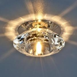 Точечный светильник G4, 8016 хром/прозрачный