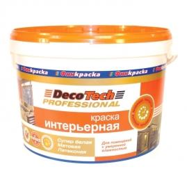 Краска ВД DecoTech интерьерная 9л