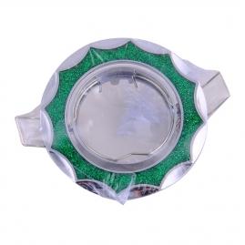 """Точечный светильник Эра Fashion DK17 """"звезда со стеклянной крошкой"""" MR16, 12V, хром/зеленый блеск"""