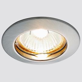 Светильник точечный Ambrella light 863A SN литой круг сатин никель MR16