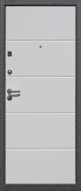 Дверь металлическая Троя МДФ 12мм белый глянец, правая 960