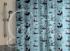 Шторка для ванной Vilina Лебеди полиэстер 1800х1800мм