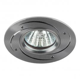 Светильник точечный Эра KL43 SL литой поворотный алюминевый MR16 12В 50Вт серебро