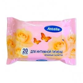 Салфетки влажные Antella для интимной гигиены 20шт 70677
