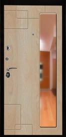 Дверь металлическая С4 ДИПЛОМАТ Абстракция 2 орех премиум/Абстракция 3 ясень горный 2060x880мм левая