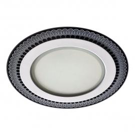 Светильник светодиодный Эра встраиваемый LED 9-6 DK 6W 4000K круглый стекло с рисунком