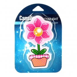 Ночник Camelion NL-231 светодиодный с выключателем цветок 220В 13806