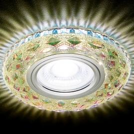 Светильник точечный Ambrella light S288 PR хром перламутр хрусталь MR16+3W LED WHITE