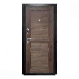 Дверь металлическая Мега дуб шале мореный 2066x980мм левая