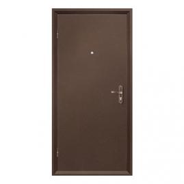 Дверь металлическая VALBERG Б2 СПЕЦ антик медный/итальянский орех 2036x850мм левая