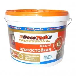 Краска ВД DecoTech влагостойкая 9л